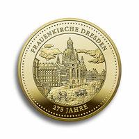 """Degussa würdigt 275. Geburtstag der """"Dresdner Frauenkirche"""" mit Thaler aus Gold und Silber"""