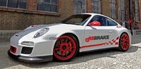How can ceramic brake discs be cheaply resurfaced?