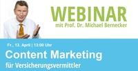 "Webinar ""Content Marketing für Versicherungsvermittler"""