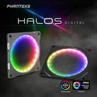 NEUHEIT bei Caseking - Phanteks Halos Digital RGB-Lüfterrahmen mit adressierbaren LEDs.