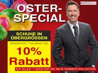 Oster-Special: 10 % Rabatt beim SchuhXL-Spezialisten schuhplus