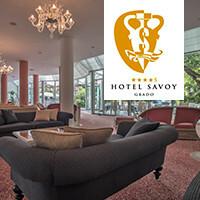 Ferragosto auf der Insel Grado. Im Hotel Savoy. Auf der Sonneninsel Italiens.