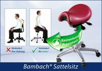 Der Bambach-Sattelsitz - Schafft Entspannung für Ihren Rücken!