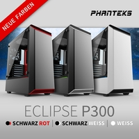 NEU bei Caseking - Der Phanteks Eclipse P300 Midi-Tower erscheint in drei neuen Farbeditionen.