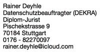Externer Datenschutzbeauftragter ++ Stuttgart ++ DSGVO