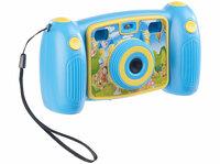 Kinder-Full-HD-Digitalkamera DV-25, 2. Objektiv für Selfies und 2 Sucher, blau