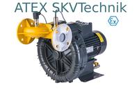 ATEX geeignete Seitenkanalverdichter sind besonders gegen entweichende und damit explosive Gase geschützt. SKVTechnik bietet alle Modelle.