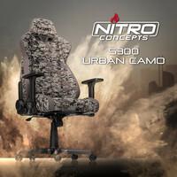 JETZT bei Caseking - Der Nitro Concepts S300 Gaming-Stuhl mit digitaler Urban Camouflage.