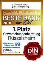 Rüsselsheimer Volksbank siegt im Bankentest mit Note 1,6