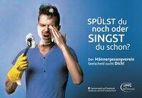 Singen statt spülen - Guerilla-Kampagne zeigt, was Männer wollen