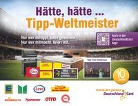 Mit der DeutschlandCard Tipp-Weltmeister werden