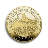 70 Jahre Berliner Luftbrücke in Gold: Neuer Jubiläumsthaler von Degussa