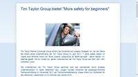 Tim Taylor Group bringt Fahranfängern Sicherheit