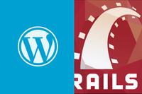 How to setup a WordPress blog with a Ruby on Rails web app?
