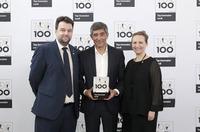 Ranga Yogeshwar gratuliert Winkler Technik zum erneuten Gewinn von Top100