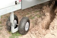 Caravan: Manövrieren auf unbefestigtem Untergrund