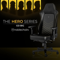 NEUHEIT bei Caseking - Der noblechairs HERO Gaming-Stuhl mit stufenlos einstellbarer Lordosenstütze.