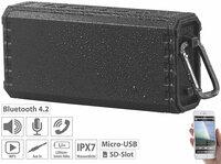 auvisio Outdoor-Lautsprecher MSS-500 mit Bluetooth