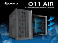 """JETZT bei Caseking - Lian Li & Roman """"der8auer"""" Hartung präsentieren den PC-O11 Air (RGB) Midi-Tower."""