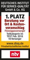 DISQ-Institut testet zehn Flüssiggasversorger