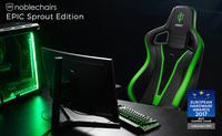 NEUHEIT bei Caseking - Die Sprout eSports Special-Edition des preisgekrönten noblechairs EPIC Gaming-Stuhls.