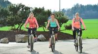 showimage Hier ist noch keiner vom Fahrrad gefallen: Mountainbike fahren kombiniert mit Wellness.