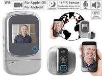 Somikon Digitaler HD-Türspion VTK-400 mit WiFi und App