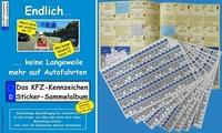 Neues KFZ-Kennzeichen Sticker-Sammelalbum sorgt für spannende Abwechslung auf Autofahrten