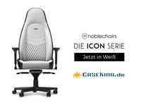 Exklusiv bei Caseking: noblechairs ICON - Der beste Gaming-Stuhl 2018 wird zur strahlend weißen Ikone.