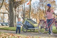 Verreisen mit Rad, Kind und Anhänger
