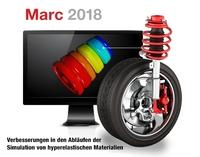 Marc 2018 - Realitätsnahe Simulation von Elastomeren, einfache Kontaktmodellierung, neue Konvergenzprüfung