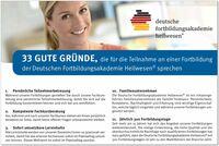 33 gute Gründe – Deutsche Fortbildungsakademie Heilwesen
