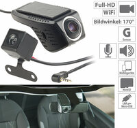 NavGear Unauffällige Full-HD-Dashcam MDV-2800