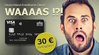 Deutschland-Kreditkarte Classic  Kontaktlos, jahresgebührfrei und mit 30 EUR Startguthaben*