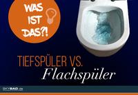 Tiefspül-WC vs. Flachspül-WC