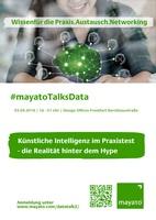 #mayatoTalksData am 3. September 2018 in Frankfurt