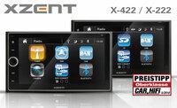 Preistipp - XZENTs neue 2-DIN Infotainer X-422 und X-222