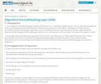 AGB erstellen mit selbststaendigkeit.de
