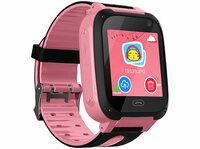 Kinder-Smartwatch PW-100.kids mit Telefon, GSM/LBS-Tracking, SOS-Funktion, rosa oder blau