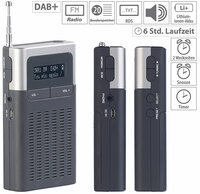 VR-Radio Digitales DAB+/FM-Taschenradio DOR-230