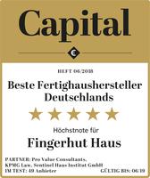 Fingerhut Haus: Platz 3 der besten Fertighaus-Hersteller gemäß Wirtschaftsmagazin Capital