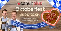 Oktoberfest bei schuhplus: 50 Prozent Sonder-Rabatt auf über 2000 Modelle