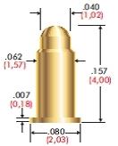 Miniatur Hochleistungs-SMD Batteriefederkontakt für bis zu 12A