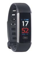Fitness-Armband FBT-62.BD mit Farbdisplay, Blutdruck-Anzeige, Bluetooth, IP67
