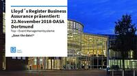 Einladung Lloyd´s Register Managementsysteme 2018 in Dortmund, 22.11.2018