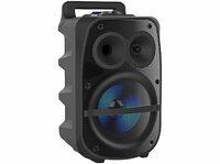 Mobile PA-Partyanlage PMA-950.k, Bluetooth, MP3, USB, SD, Karaoke, UKW, 150 Watt