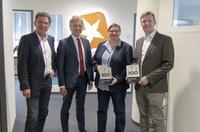 Glückwünsche zum TOP 100-Innovationspreis: Dr. Frank Mentrup zu Gast bei STARFACE