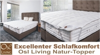 Hotel-Innovation, Osl Living Natur-Topper - Gäste schlafen wie im 7. Himmel