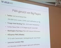 Worldsoft mit Progressive Web App (PWA) Funktionalität