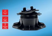 Für große Platten und wenig Lärm: Stelzlager mit eingebauter Trittschall-Verbesserung
